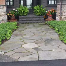 Walkway Stonework by Stone Age Design