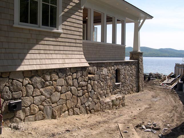 Stone veneer photo gallery stone age design llc Houses with stone facade